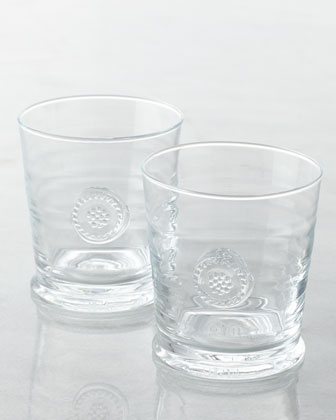 Two Berry & Thread Double Old-Fashioned Glasses