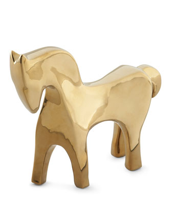 Golden Animal Sculptures