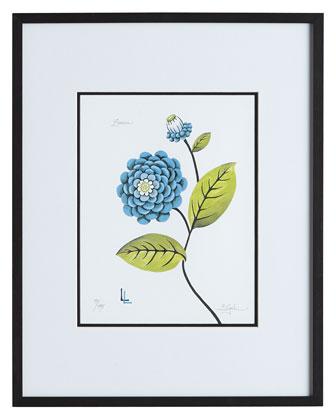Blue Zinnia Print