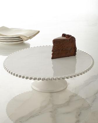 Beaded-Edge Cake Plate