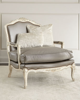 Silver Leather Chair