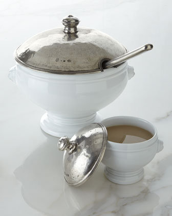 Soup Tureen & Covered Soup Bowls