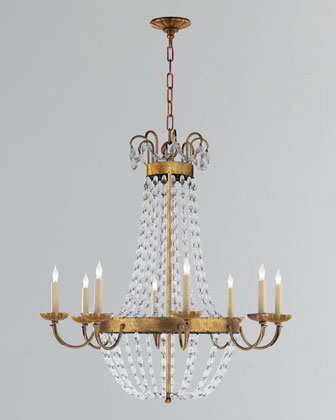 Large Paris Flea Market Eight-Light Chandelier