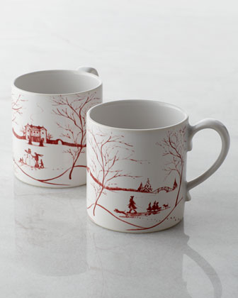 Two Country Estate Winter Frolic Mugs