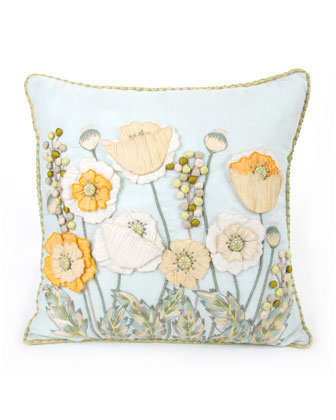 Parchment Poppy Pillow