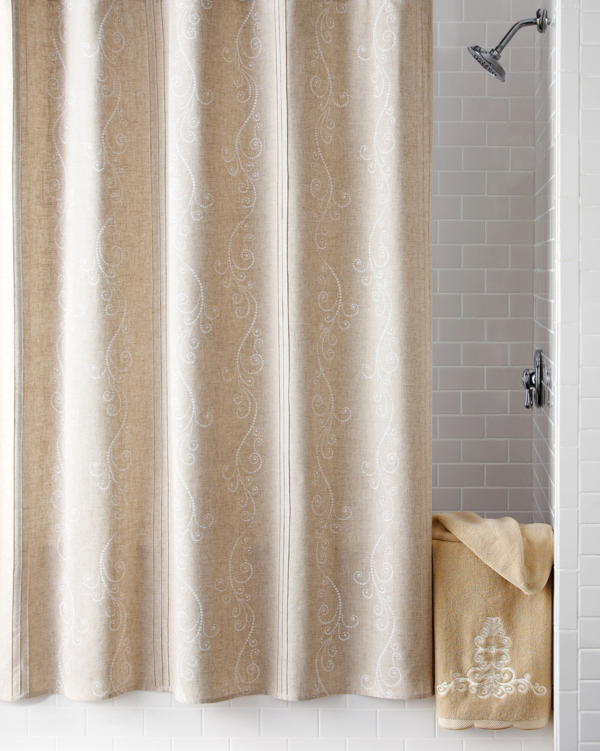 French Perle Shower Curtain