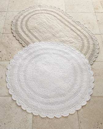 Cobra Trading Crochet Border Bath Rugs