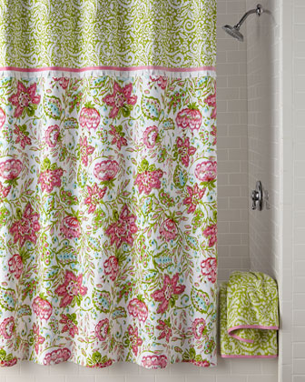 Dena Floral Ikat Shower Curtain