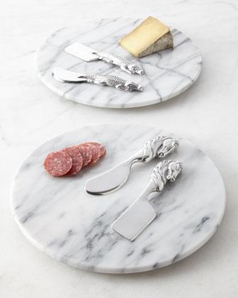 Three-Piece Marble Cheese Set