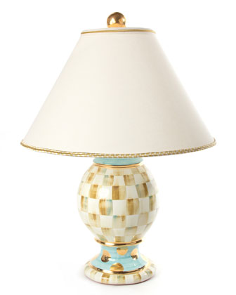 Parchment Check Medium Globe Lamp