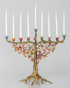 Floral and Vine Menorah