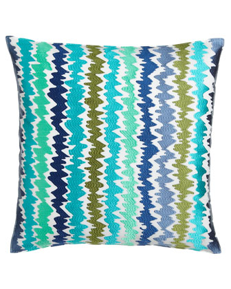 Tropical Ikat Stripe Pillow, 20