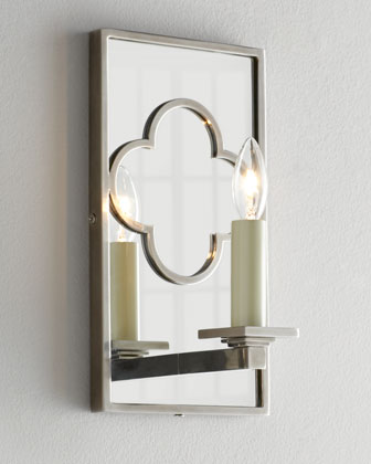 Rectangular Quatrefoil Bath Sconce