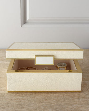 Small Faux-Shagreen Jewelry Box