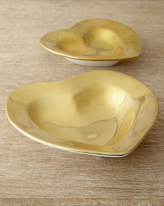 Gold Medium Heart Dish