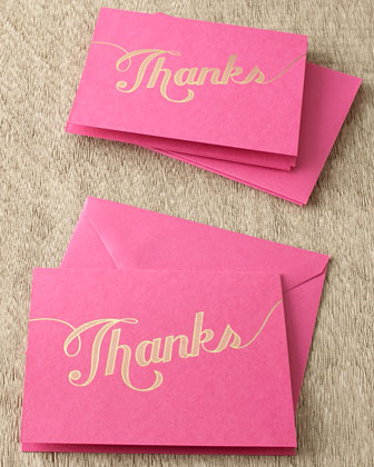 Raspberry Thank You Cards