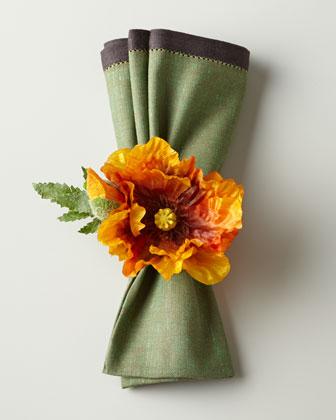 Autumn Poppy Napkin Ring