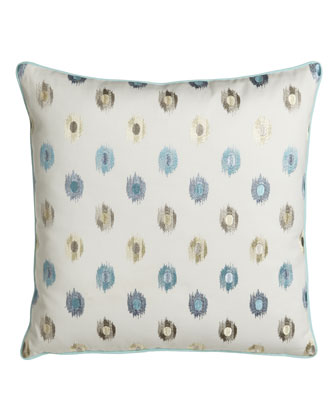 Embroidered Dot Pillow, 20