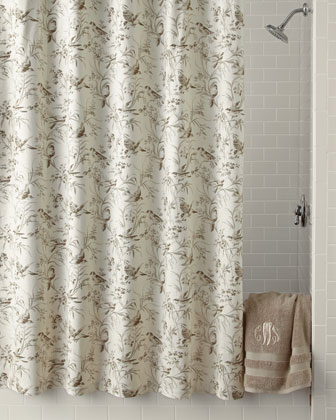 Aviary Toile Shower Curtain