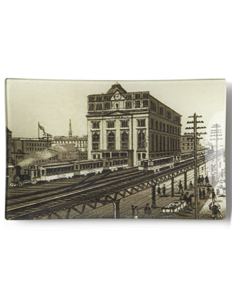 New York City Landmark Decoupage Trays