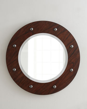 Porthole Beveled Mirror