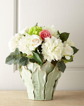 Faux Peonies & Roses