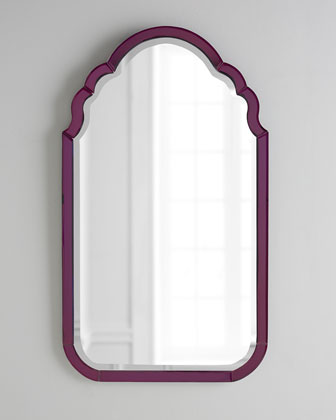 Purple Mirror Framed Mirror