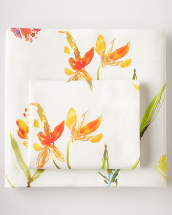 Watercolor Flowers 200TC Sheet Sets