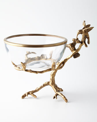 Brass & Glass Decorative Bowl