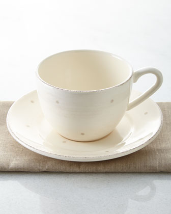 Four Cottage Tea Cups & Saucers