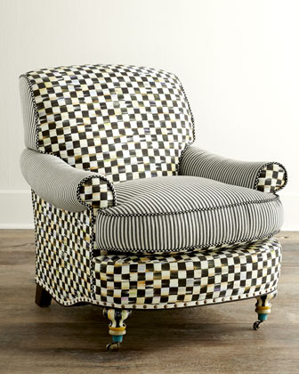 Courtly Check Underpinnings Club Chair