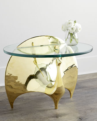Brass Peacock Table