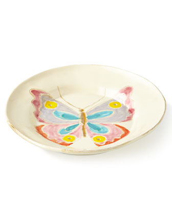 Butterfly Round Serving Bowl