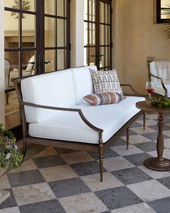 Sophia Outdoor Sofa, Chair, and Ottoman