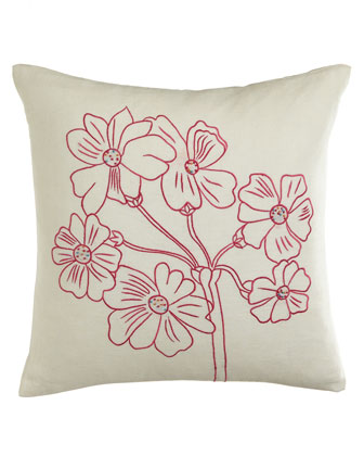 Pink/White Primrose Pillow