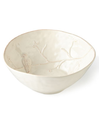 Bird on Branch Serving Bowl & Platter