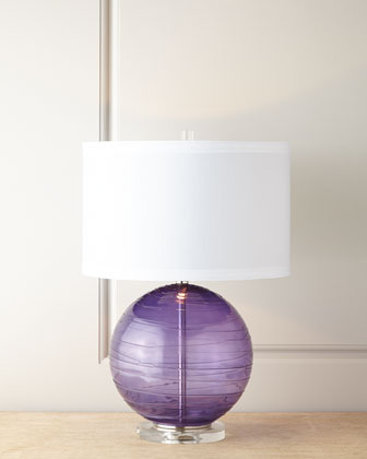 Mouth-Blown Glass Table Lamp