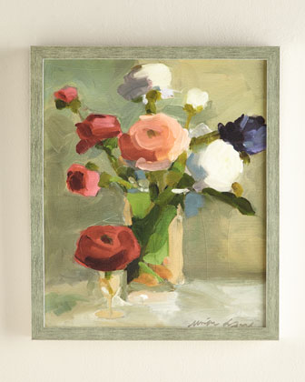 A Bouquet of Ranunculus Giclee