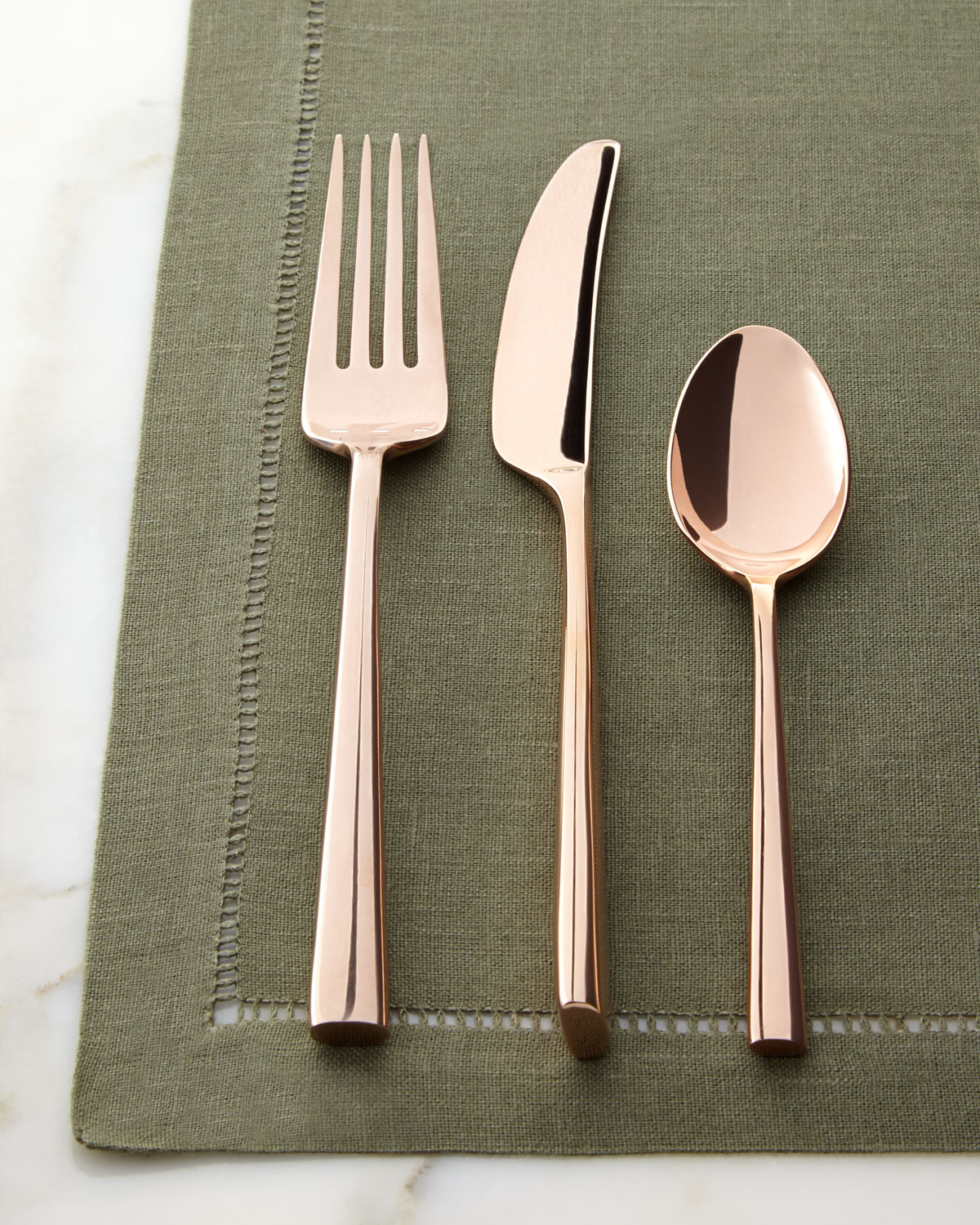Five Piece Malmo Rose Gold Flatware Place Setting   kate spade new york