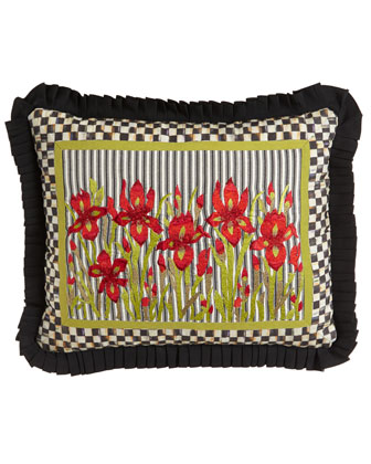Large Iris Lumbar Pillow