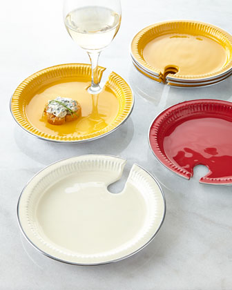 Four Mingling Plates
