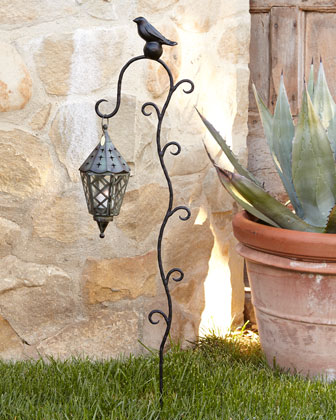 Bird on Ball Garden Lantern