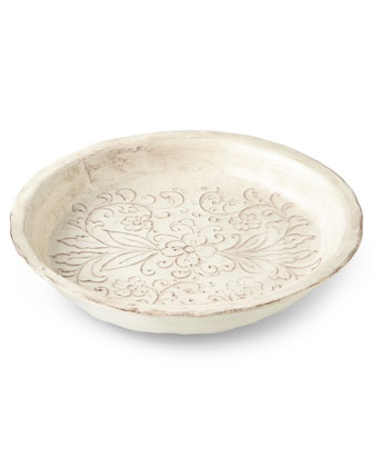 Scroll Serving Bowl & Platter