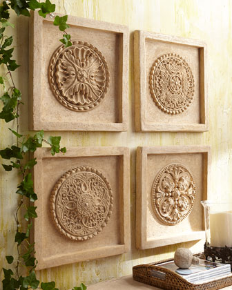 Four-Piece Wall Medallion Set