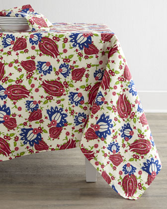 Ornamental Floral Table Linens