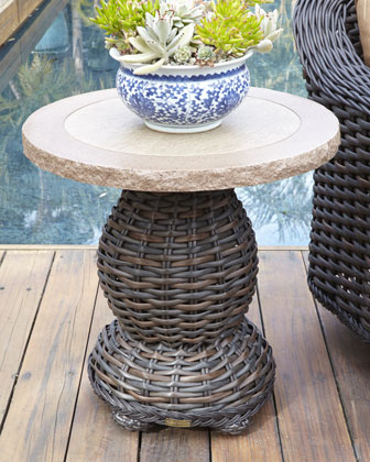 Madison Outdoor Swivel Lounge Chair & Accent Table