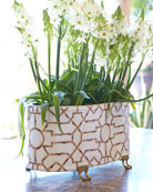Baldwin White Oval Planter