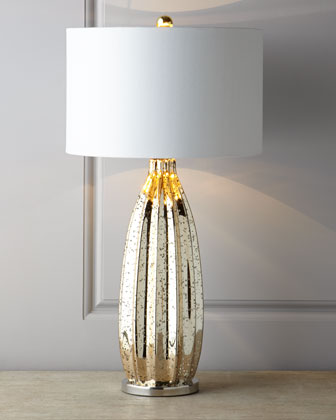 Golden Mercury Glass Lamp