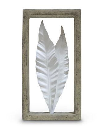 Coral & Leaf Shadowbox Sculptures