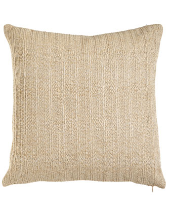 Ivory Metallic Stripe Pillow